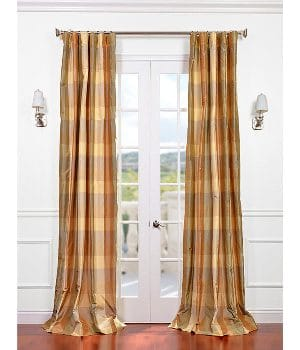 plaid-curtains