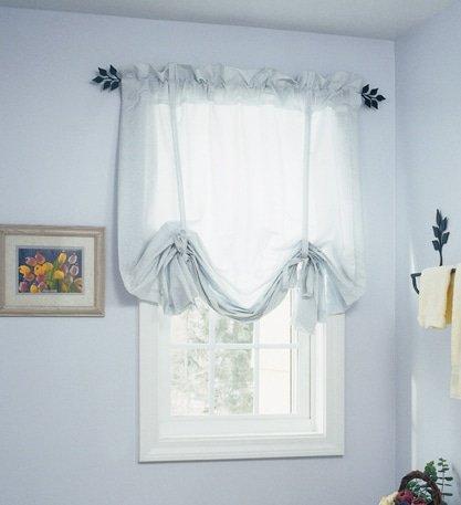 Leaf curtain rod