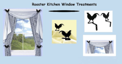 Rooster Kitchen Window Treatments